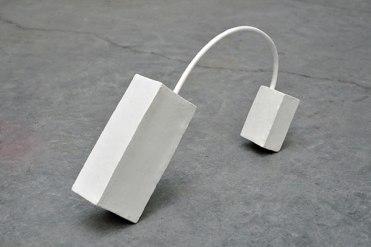 Briques - 2011 - grès et terre sigilée blanche, modelage, 6 x 20 x 30 cm