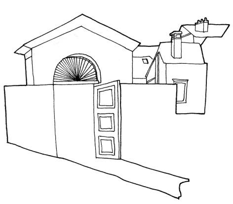 Jardin de l'Evêché - 2016 - croquis, feutre noir sur papier, A5