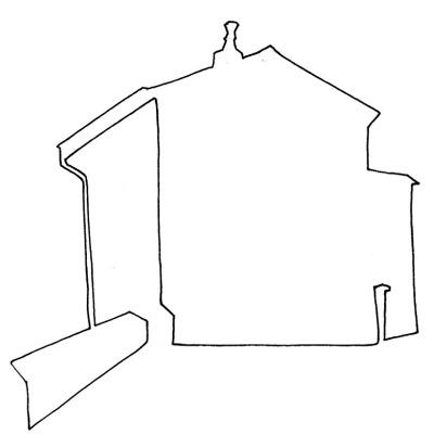 Place Jean de Brisson #2 - 2016 - croquis, feutre noir sur papier, A5