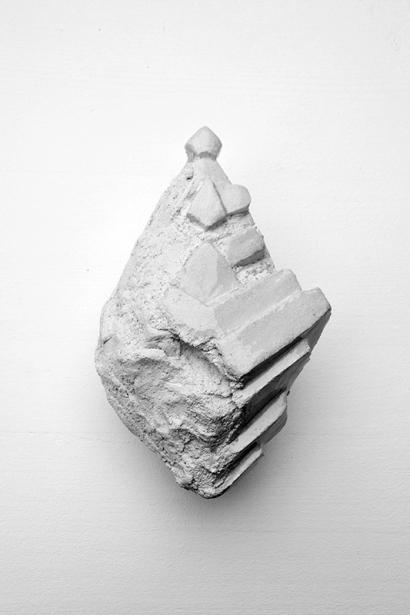 Antédiluvienne #12 - 2017 - grès blanc chamotté, émail, modelage - 16 x 13 x 8 cm