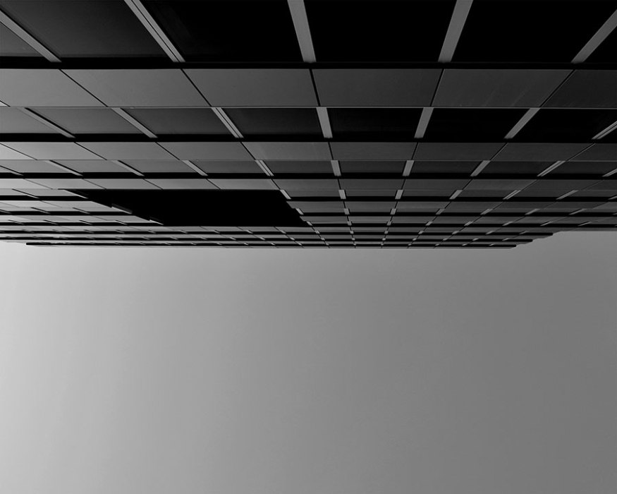 Spaceship #1 - 2018 - photographie noir et blanc, papier photo argentique lustré, impression jet d'encre - 50 x 40 cm