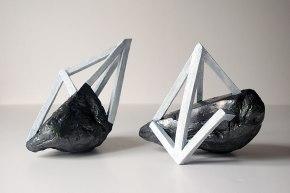 Archisteroids #4 et #5 - 2018 - grès blanc émaillé, modelage - dimensions variables