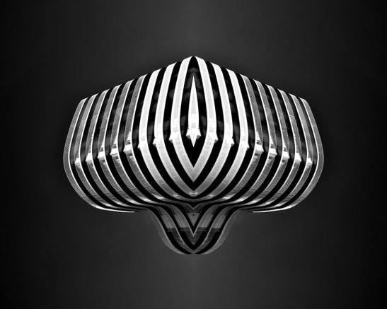Spaceship #5 - 2018 - photographie noir et blanc, papier photo argentique lustré, impression jet d'encre - 50 x 40 cm