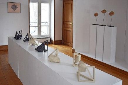 """""""Archisteroids"""", 2018 - """"Ophelia's prediction #1 #2 #3"""", 2017 - """"Ophelia #3"""", 2018 - vue de l'exposition """"Réciproque"""" - 2019 - Espace Gainville - Aulnay-sous-Bois"""