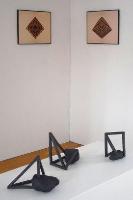 Archisteroids (2018) et Ophelia #1 #2 (2017) - vue d'exposition - 2019 - Espace Gainville - Aulnay-sous-Bois
