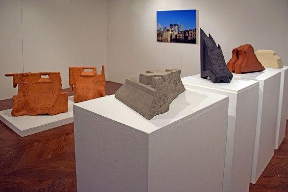Cornices #1 #2 #3 #4 (2018) - Sans titre (2013) - (Sans titre (2013) - vue d'exposition - 2019 - Espace Gainville - Aulnay-sous-Bois