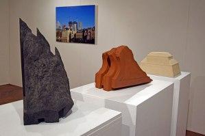 """""""Sans titre"""", 2013 - """"Corniches #1 #2 #3 #4"""", 2018 - vue de l'exposition """"Réciproque"""" - 2019 - Espace Gainville - Aulnay-sous-Bois"""