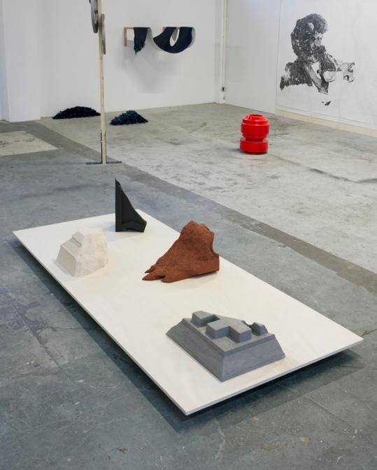 "Cornice #1 #2 #3 #4 - 2018 - vue de l'exposition ""Le Grand Atelier - From the hidden to the seen"" - MilleFeuilles - Nantes - crédit photographique : Philippe Piron"