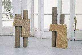 """""""Architectures sédimentaires #3"""" - 2019 - vue d'installation de l'exposition """"Sous un ciel maladivement lumineux..."""" - curateur : Michael Lassabe"""