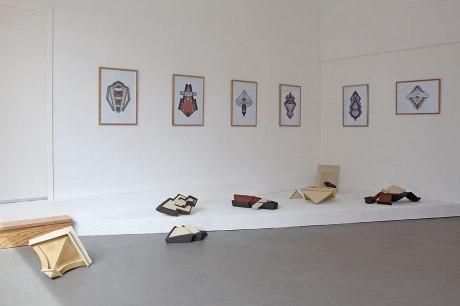 CHTX 1, CHTX 2, CHTX 3, CHTX 12, CHTX 13 (Réalisées dans le cadre d'une résidence à l'Ecole Municipale des Beaux-Arts de Châteauroux – Collège Marcel Duchamp), 2017- vue d'exposition – 2019 – La Forme – Le Havre